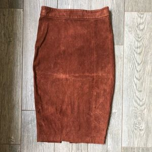 Alice and Olivia suede skirt